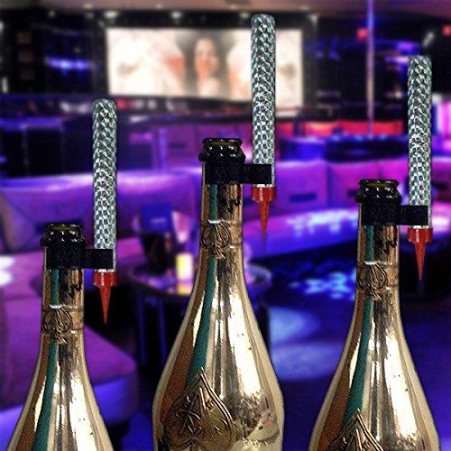 LED Bottle Service Sparklers Clips for Vip Nightclubs Led Sparkler Clips Bottle Baton Electronic sparkler plastic clips single holder 25PACK