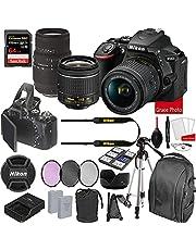 $899 » Nikon D5600 DSLR Camera Kit with 18-55mm VR + Sigma 70-300mm Macro Lenses | Built-in Wi-Fi | 24.2 MP CMOS Sensor | SnapBridge Bluetooth Connectivity | Extreme Speed 64GB Mempry Card (27pc Bundle)