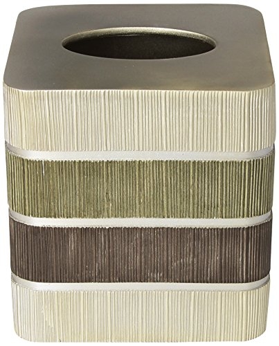Popular Home The Modern Line Collection Tissue Box, Sage