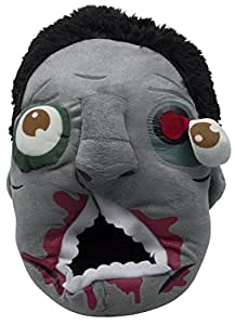 VENKON - Cálido Zapatillas de Peluche en el Diseño Horrible Zombie - Talla Única Adulto