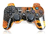 XFUNY® Premium Wireless Bluetooth Six Axis Dualshock Game Controller for Sony PlayStation 3 PS3 (Snakeskin)