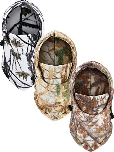 3 Pack Winter Balaclava Ski Mask Thick Windproof Face Mask Warm Fleece Bike Face Mask for Outdoor Activities Supplies (Camouflage Combination)