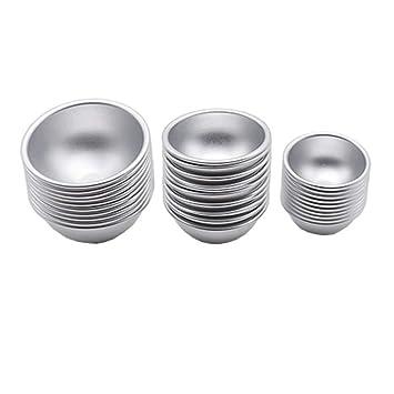 SUPERLOVE Molde para Hornear Metal De Aluminio,Molde De Pastel De Galleta Tarta De Huevo Pudín Molde Herramienta para Hornear Tazas para Hornear para ...