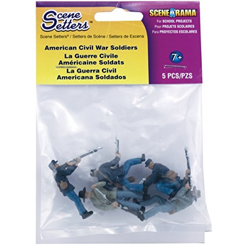 - Woodland Scenics Scene Setters Figurines, American Civil War Soldiers, 5/Pack