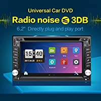 2 Din Receiver 6.2 inch Display Built In Bluetooth HD Radio Car Stereo Muti-touch Screen GPS Navigation DVD Player with Backup Camera