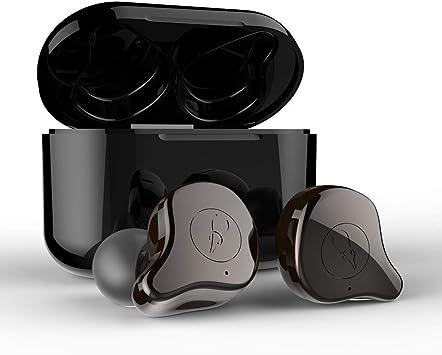 Docooler Auriculares inalámbricos BT Sabbat E12 TWS Auriculares BT 5.0 emparejamiento automático con Caja de Carga de 750 mAh Carga inalámbrica Compatible: Amazon.es: Electrónica