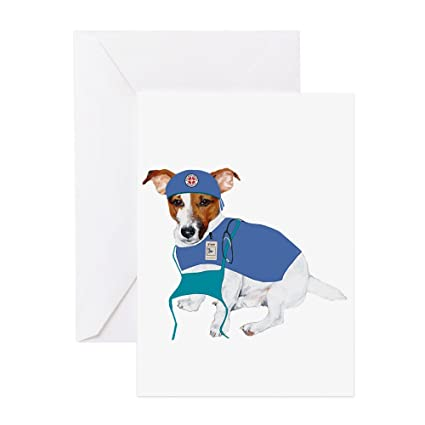 Amazon Cafepress Jack Russell Scrubs Greeting Card Note