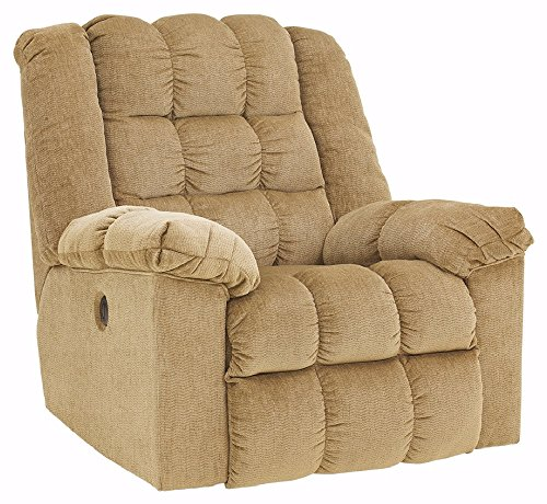 Ashley Furniture Signature Design - Ludden Rocker Recliner - 1 Touch Powered Reclining Sofa - Contemporary - Natural Sand (Recliner Rocker Power)