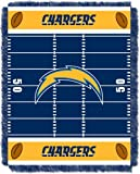 "The Northwest Company Officially Licensed NFL Los Angeles Chargers Field Bear Woven Jacquard Baby Throw Blanket, 36"" x 46"""