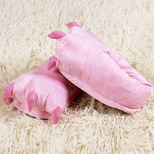 Hiver Paw Nouveauté Marrant Flanelle De Chaussons Femme Rose ❤️adulte Monstre Home Animal griffe D'animal Chaussure Automne Patte Accueil Slippers Chaud Peluche q8w7nxnHP