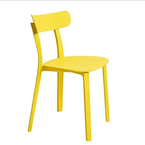 Amazon.com: FENPING Sillas de comedor silla de plástico ...