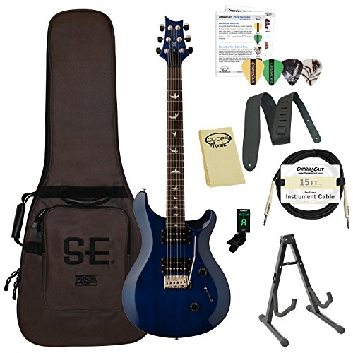 Paul Reed Smith Guitars ST24TB-Kit01 PRS SE Standard 24 Translucent Blue Electric (Gibson Les Paul Standard Bass)