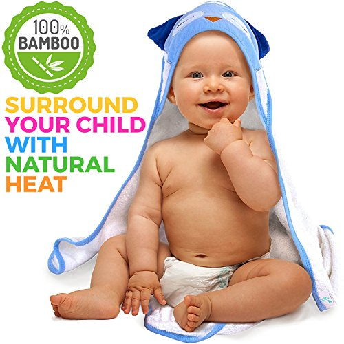 Bamboo Hooded Baby Towel - Antibacterial Hypoallergenic Bath