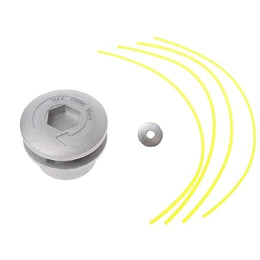 JENOR Cabezal cortador de césped de aluminio con 4 líneas de ...