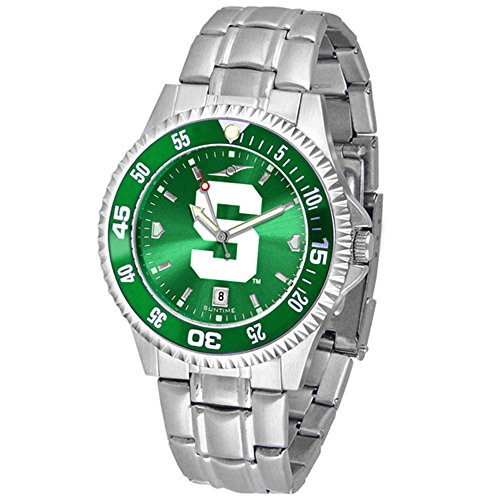 Michigan State Spartans Competitor Steel AnoChrome Color Bezel Men