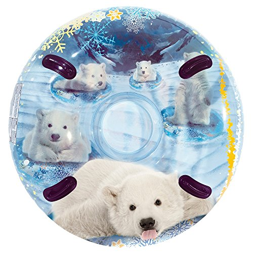 Pipeline 3D MegaBlaster Polar Bear Cleartop Snow Tube, 54