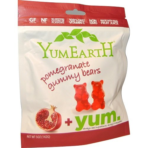 Yumearth Organics Organic Gummy Bear, Pomegranate, 5 Ounce by Yumearth Organics