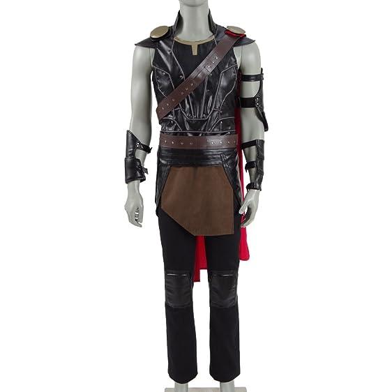 Mens Hero Leather Battle Suit Thurs Armor Cosplay Halloween Costumes  sc 1 st  Amazon.com & Amazon.com: Mens Hero Leather Battle Suit Thurs Armor Cosplay ...