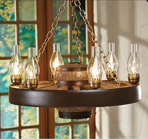 Wagon Wheel Lighting (Move 'Em Out! Small Wagon Wheel Chandelier, Reproduction,30