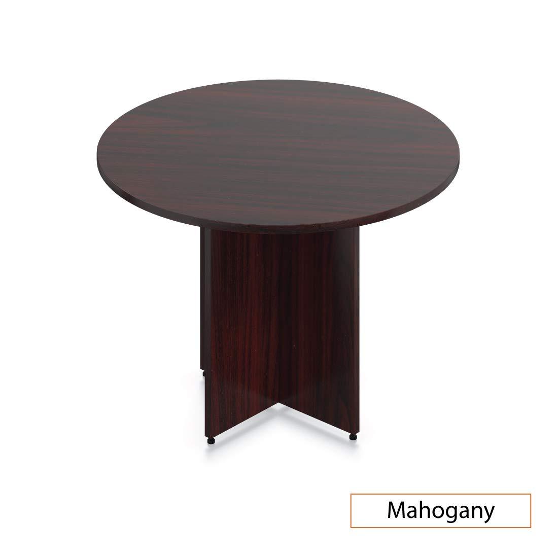 GOF 42'' Round Table (42W x 42D x 29.5H), Cherry, Espresso, Mahogany, Walnut (Mahogany) by GOF (Image #1)