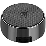 JE Mini Bluetooth Speaker Portable,Small Metal Stereo Outdoor Speaker,Ultra Mini Portable Wireless Bluetooth Speaker,Rechargeable Speakers 3.2W With Aux ,Strong Bass And TF Card -Black