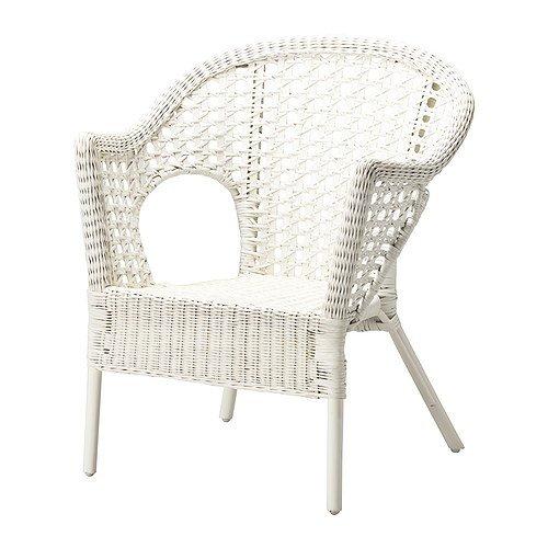 IKEA - Silla, ratán, bambú Bamboo Chair blanco: Amazon.es: Hogar