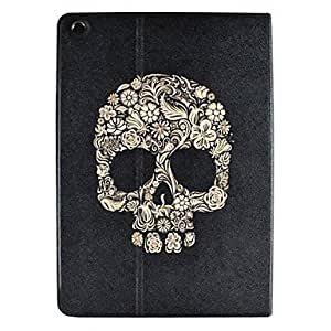 CeeMart Floret Skull Pattern PU Leather Case for the