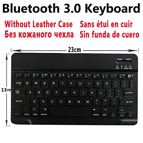 Wireless Bluetooth Keyboard Cover Case for Apple iPad 2 3 4 iPad2 iPad3 iPad4 9.7 with Screen Protector Film Keyboard WithoutCase ()