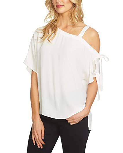 7167a80150c11 1.State Womens Tie-Detail One Shoulder Blouse at Amazon Women s Clothing  store
