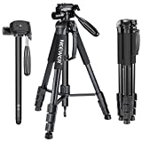 70 carbon fiber tripod - Neewer Portable 70 inches/177 centimeters Aluminum Alloy Camera Tripod Monopod with 3-Way Swivel Pan Head,Carrying Bag for Canon Nikon Sony DSLR,DV Video Camcorder Load Capacity 8.8 pounds/4 kilograms