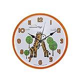Child Nursery Animal Wall Clock for Kids Room - SILENT Ticking - 10 Inch - Giraffe Wall Clcok - Children Clocks- Child Bedroom Décor Ideas for Boys/Girls (Mommy & Me Giraffe)