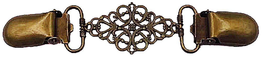 Bronze Filigree Cardigan Clip