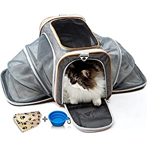 b2b1743b10 PETYELLA Airline Approved Pet Carrier + Fleece Blanket & Bowl - 100%  Lifetime Satisfaction 11