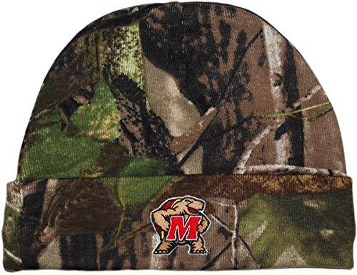 Creative Knitwear University of Maryland Teripans Realtree Camo Newborn Knit Cap (Maryland Camo Hat)