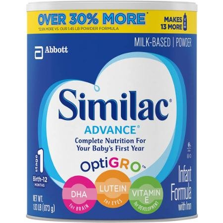 Similac Advance Stage 1 Infant Formula 1.93 Lb (30.8 oz)