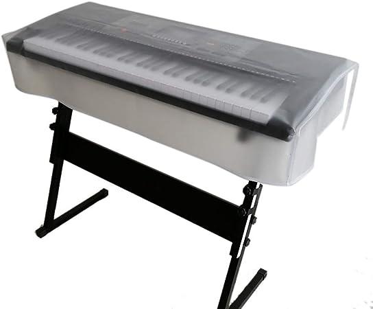QEES Funda para teclado de piano, a prueba de polvo, resistente al agua 61/73/76/88 Notas de teclado eléctrico a prueba de polvo, cubierta protectora ...