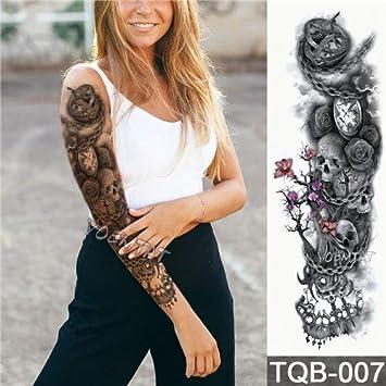 Amazoncom Large Arm Sleeve Tattoo Waterproof Temporary Tattoo