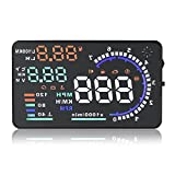"A8 Car HUD - Veki 5.5"" Color LCD Screen Speed Car Vehicle Head Up Display with OBD2 Interface Plug Play KM/h MPH Speeding Warning Fuel Consumption with Reflecting Film offers"