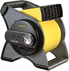 STANLEY 655704 High Velocity Blower Fan - Features Pivoting Blower and Built-in...