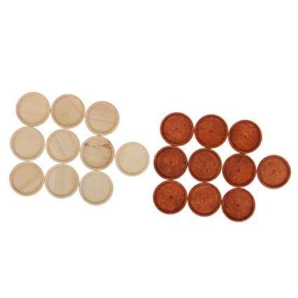 5//20x Round Wooden Cameo Cabochon Setting Base//Tray Pendants DIY Necklace Making