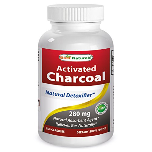 Best Naturals Activated Charcoal 280 mg 250 Capsules