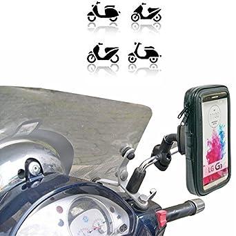 cr-tek Support pour smartphone Scooter Pour Vespa Piaggio Honda Yamaha Kymco Suzuki Fabriqué en Europe Impermeabile LG G3 G4 G5