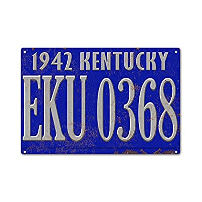 "AnnaStoree Metal Signs Vintage KENTUCKY License Plate Retro Vintage Decorative Metal Sign 12""X18"" Inches"