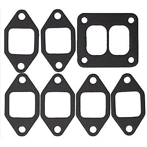 (362299R1 Exhaust Manifold Square Port Gasket Set Made for Farmall 100 186 966 986 1086 ++)