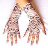 Nude Lace Fingerless Gloves