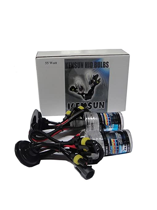 Kensun HID Xenon 55 Watt Replacement Bulbs 9006 (HB4) - 12000K on