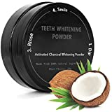 P & J Health Coconut Activated Charcoal Powder - Mint Flavor Safe Effective Tooth Whitener Solution (Black) (30g, Natural)