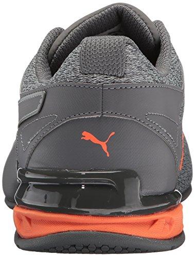 Puma Heren Tazon 6 Gebreide Sneaker Steengroeve-quiet-tint Schokkende Oranje
