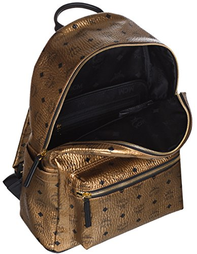 MCM Unisex Gold Weekender Visetos Backpack Bag by MCM (Image #4)