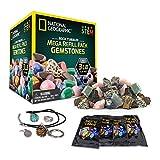 National Geographic Rock Tumbler MEGA Refill Kit - 3lbs Gemstones of 9 Varieties